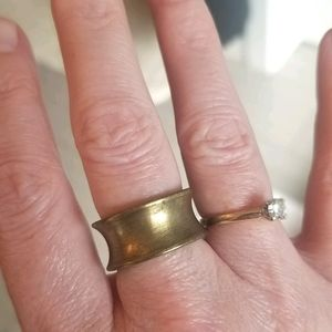Unique chunky brass ring